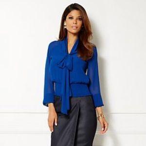 NY & Co Eva Mendes Collection Rachel Bow Blouse